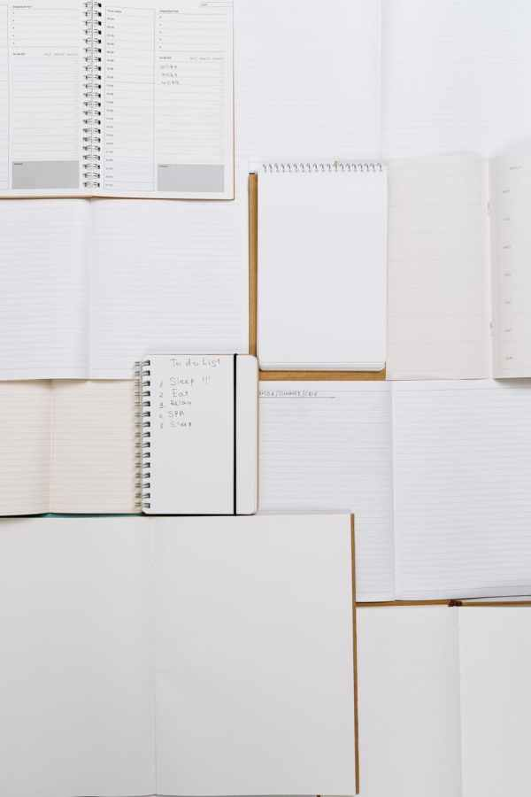 a variety of writing notebooks