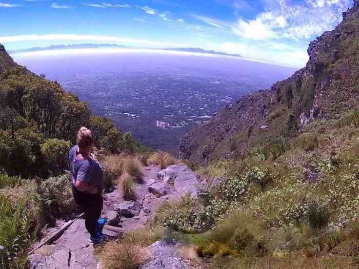 Making my way up Table Mountain