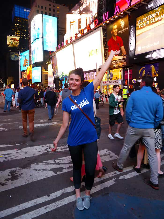 Living my dream in Times Square, NYC