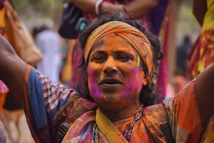 Baul performance at Basanta Utsav in Shantiniketan