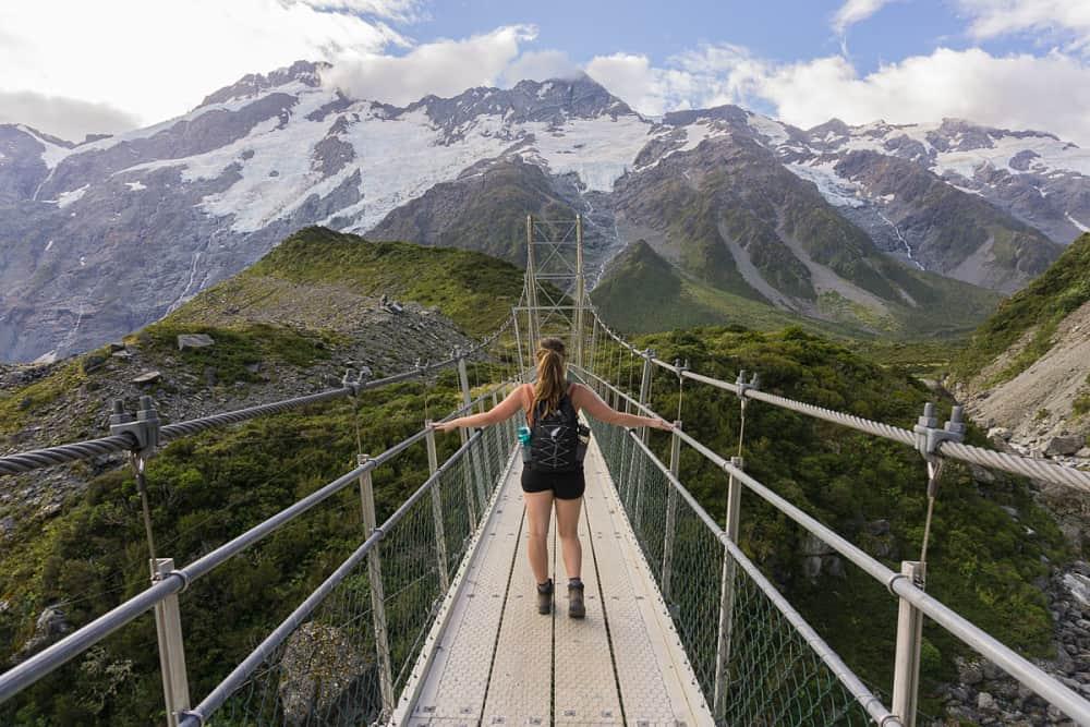 Female Travel Blogger hiking in New Zealand