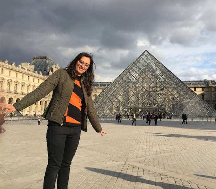 Shivani at the Louvre Museum, Paris