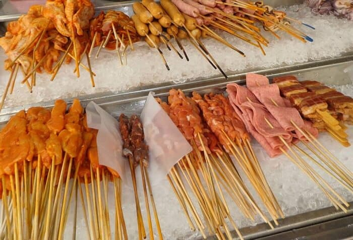Satay chicken sticks