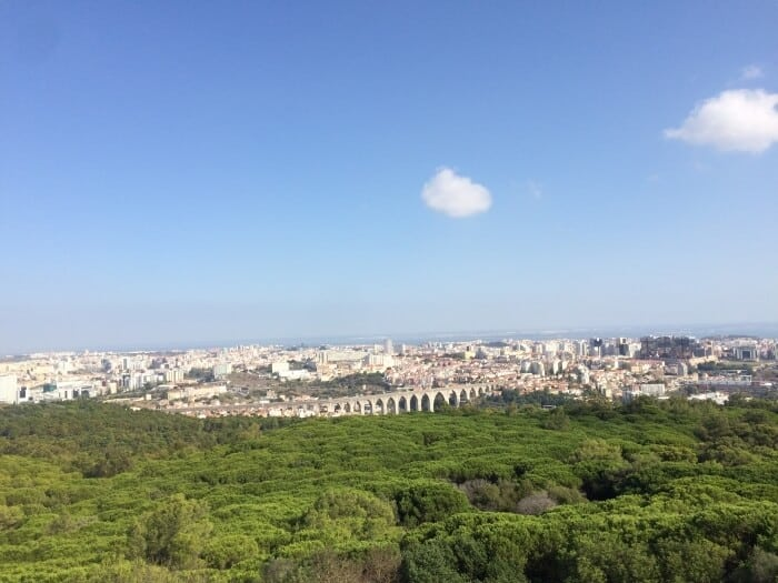 The view from Panoramico de Monsanto viewpoint