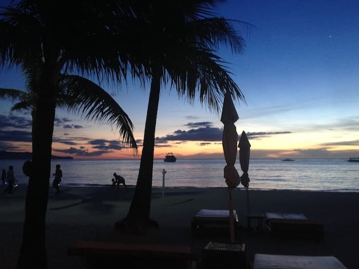 Philippines travel guide, Boracay sunset