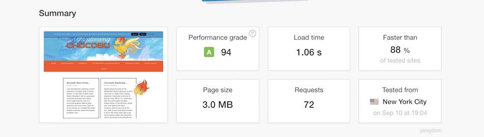 Improve your Site Speed Pingdom Site Speed Test
