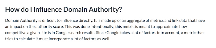 How to influence domain authority