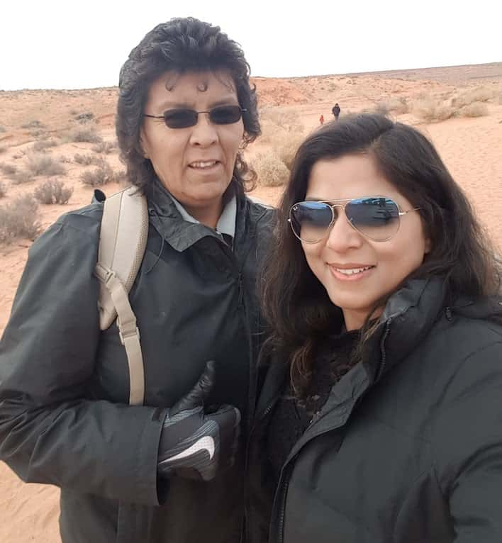 Female Indigenous Guide to Antelope Canyon