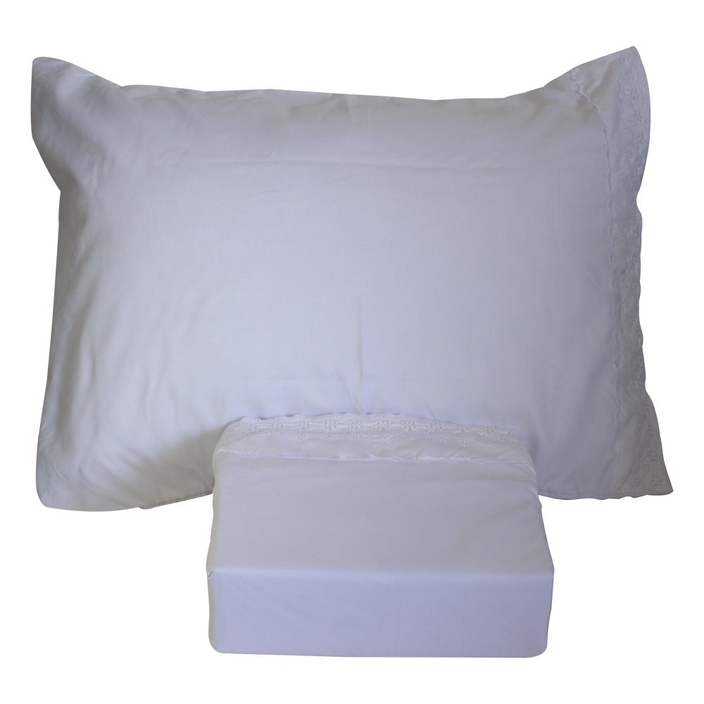 sábanas blancas 2 plazas