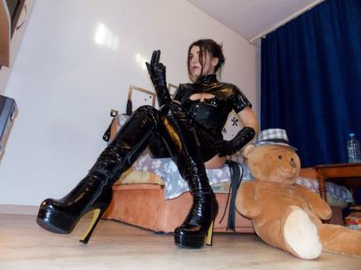 High heel thigh high Mistress Boots