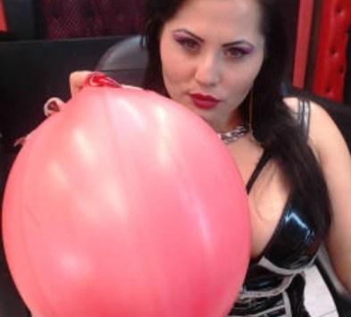Balloon Blowing fetish