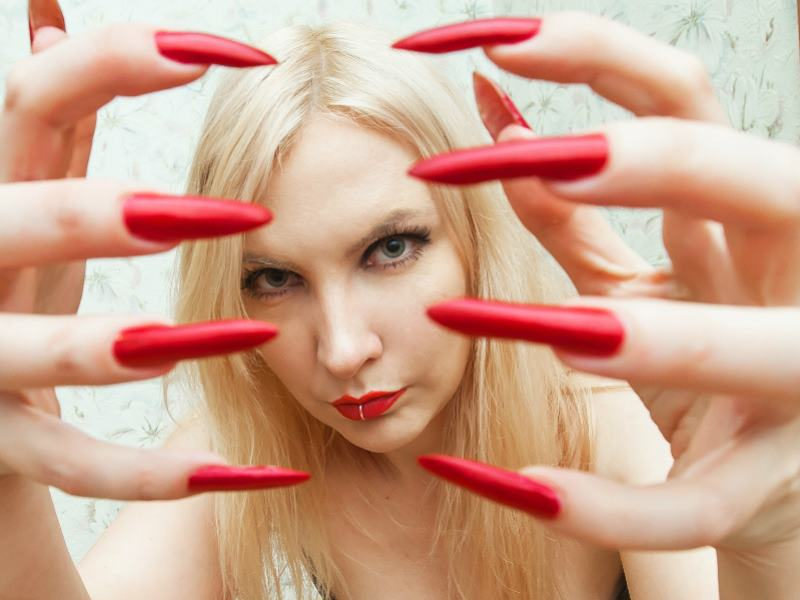 Naked ladies with long nails