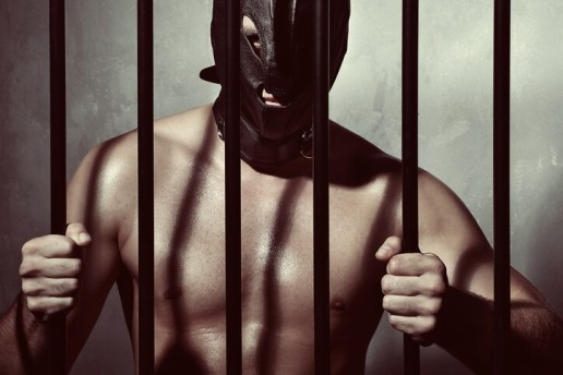 slave in a cage
