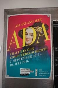 Ausstellungsplakat: Am Anfang war Ada