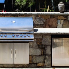 Outdoor Kitchen Storage Metal Cabinets Ikea Custom Built Grills Kitchens Femia Landscaping
