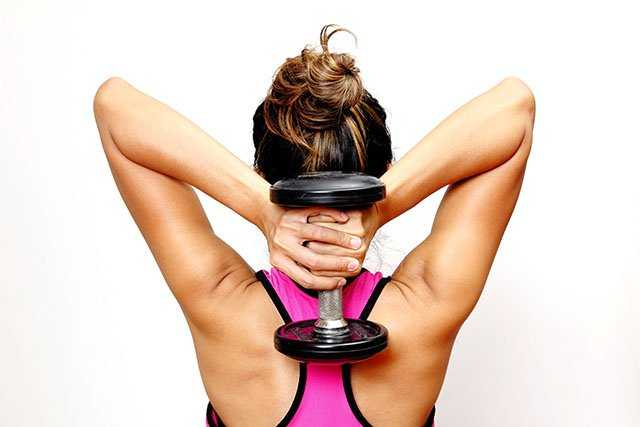 Weight lifting for lose arm fat