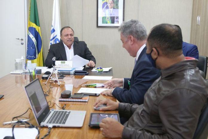 Ministro da Saúde, Eduardo Pazuello participa da 73ª Assembleia Geral da Saúde. Brasília, 18/05/020. Foto: Erasmo Salomão/MS