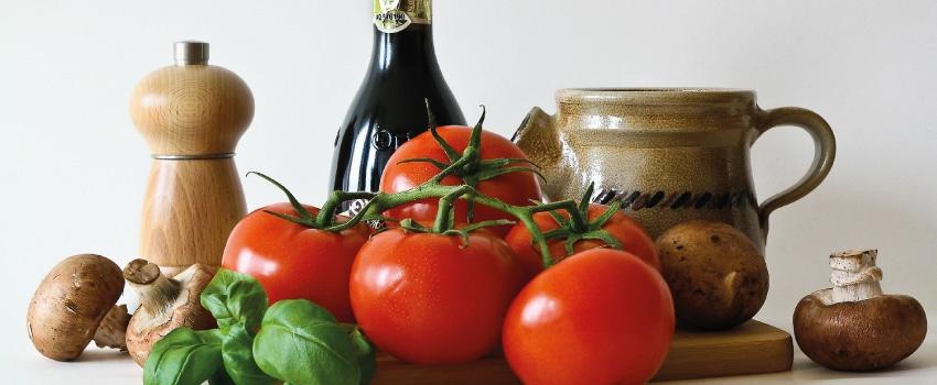 Paleo Nahrung zum Abnehmen - TOmaten und Pilze