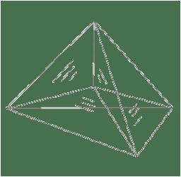 図32‒3 三角錐フレームに張られた石鹸膜