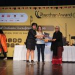 Aruna Roy presented us the award :)
