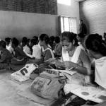 """The government-run school is the only one in Shahabad, and it shares a wall with the hockey academy. Here, the hockey-playing girls are the cool kids. """"Rani didi"""" is the hero the kids look up to, and there's a picture of her in a Team India jersey in the principal's room, hung higher than the plaque with the school toppers' names."""