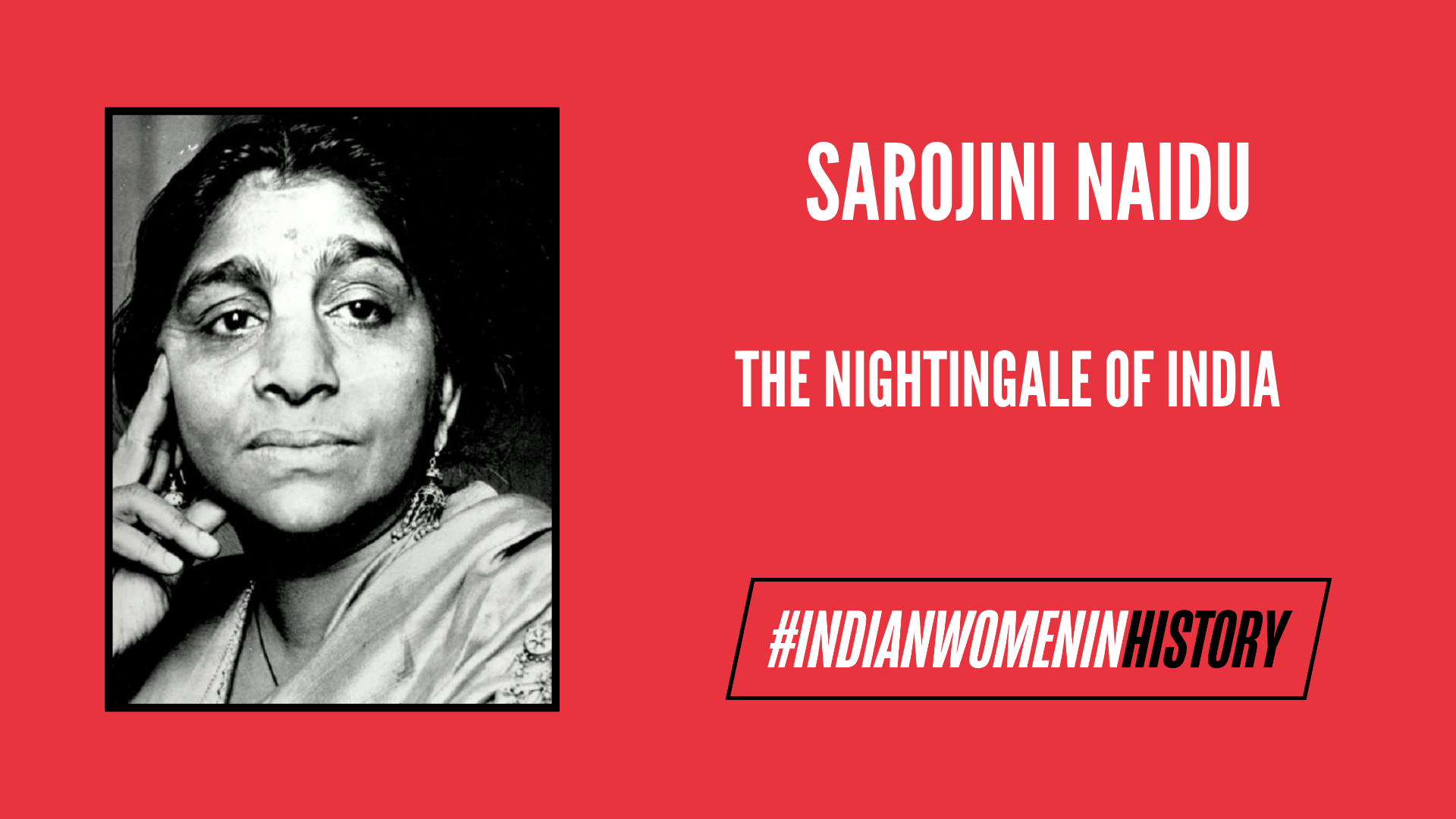 Sarojini Naidu: The Nightingale Of India | #IndianWomenInHistory