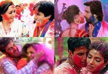 Stills from Holi songs