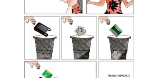Comic: Sanitary Pads And The Waste They Come With | #ThePadEffect