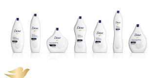 Dove's body positive bottles