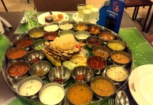 A Bakasura Thali of Indian food