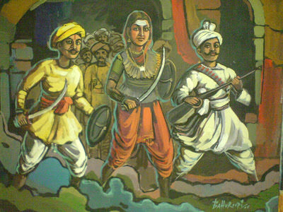 short paragraph on rani lakshmi bai in hindi