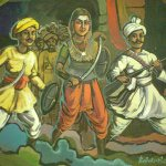Kittur Rani Chennamma leading the battle
