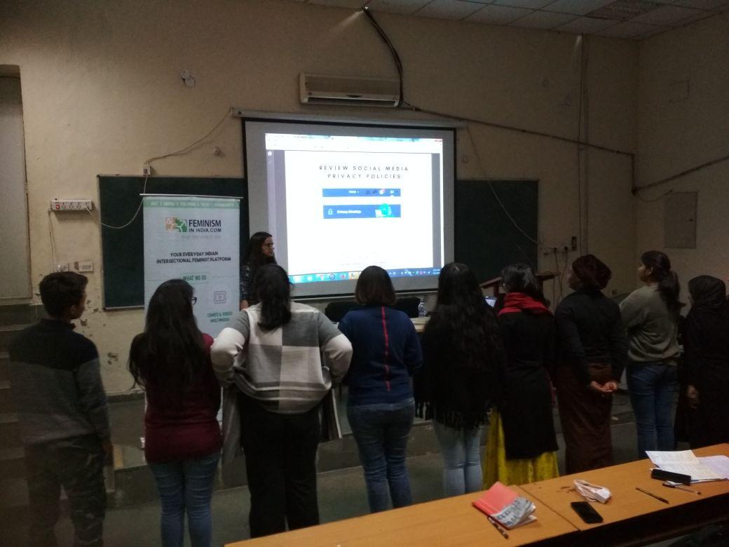 FII Conducts A Workshop On Online Abuse At Ambedkar University   #DigitalHifazat