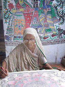 Madhubani artist - mahasundari devi