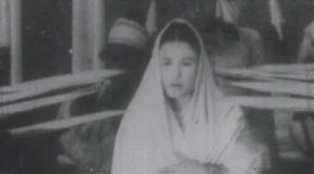 Aideu Handique in the film, Joymoti, as Soti Joymoti