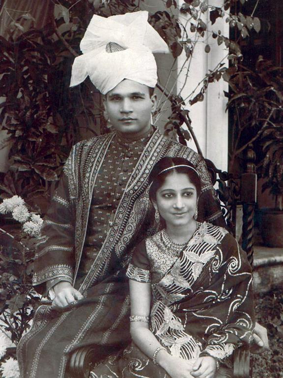 Surayya Tyabji with her husband Badruddin Tyabji