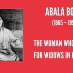 Abala Bose: The Peerless Helpmate  #IndianWomenInHistory