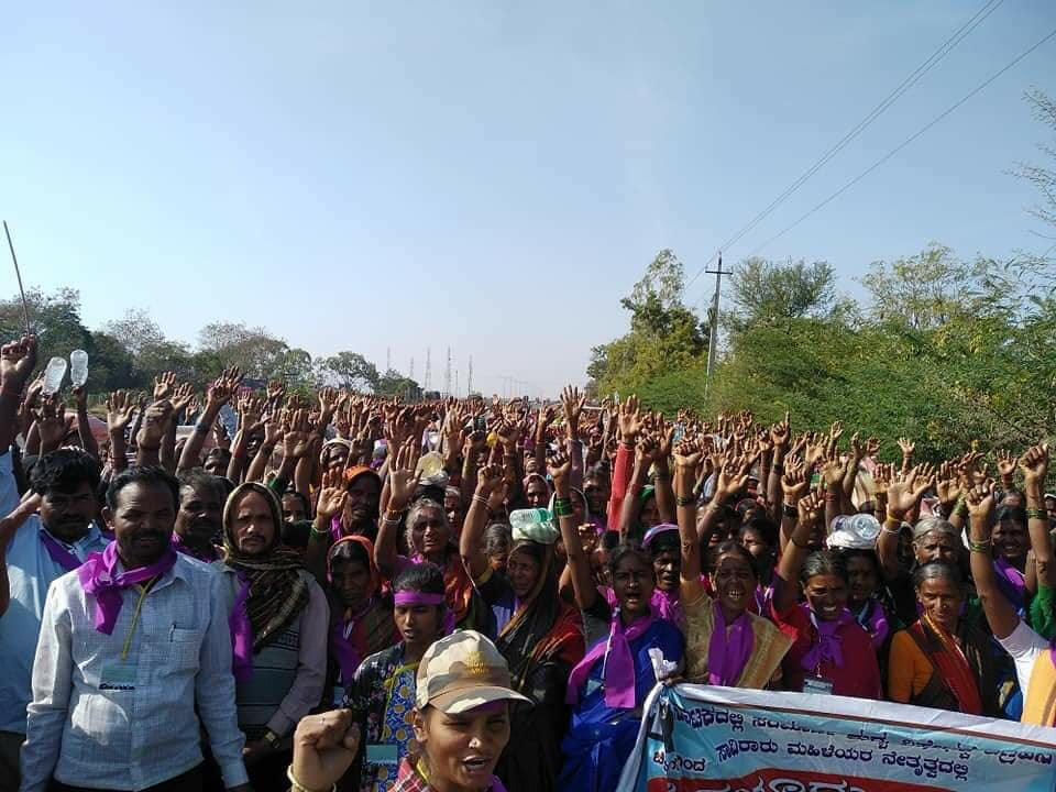 Rural Women In Karnataka March To Bengaluru Calling For Alcohol Prohibition