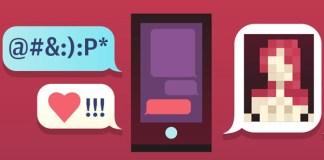 graphic art symbolizing sexting