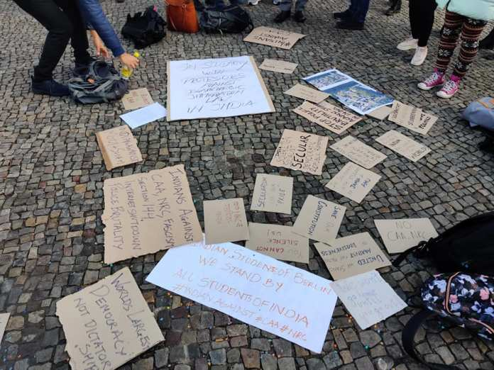Students Protest in Berlin