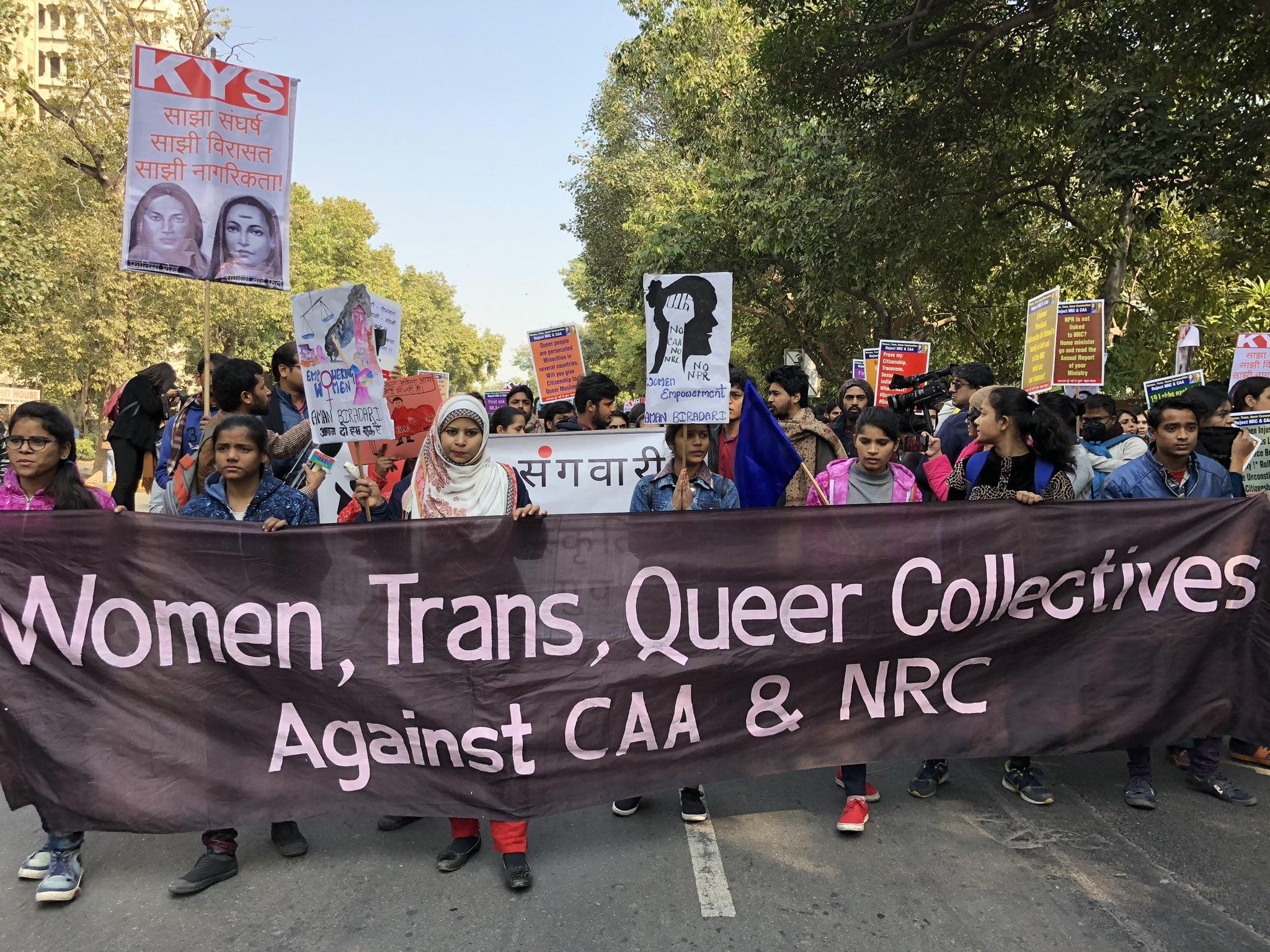 'Nafrat Ke Khilaaf Savitribai': Womxn Reject Fascism