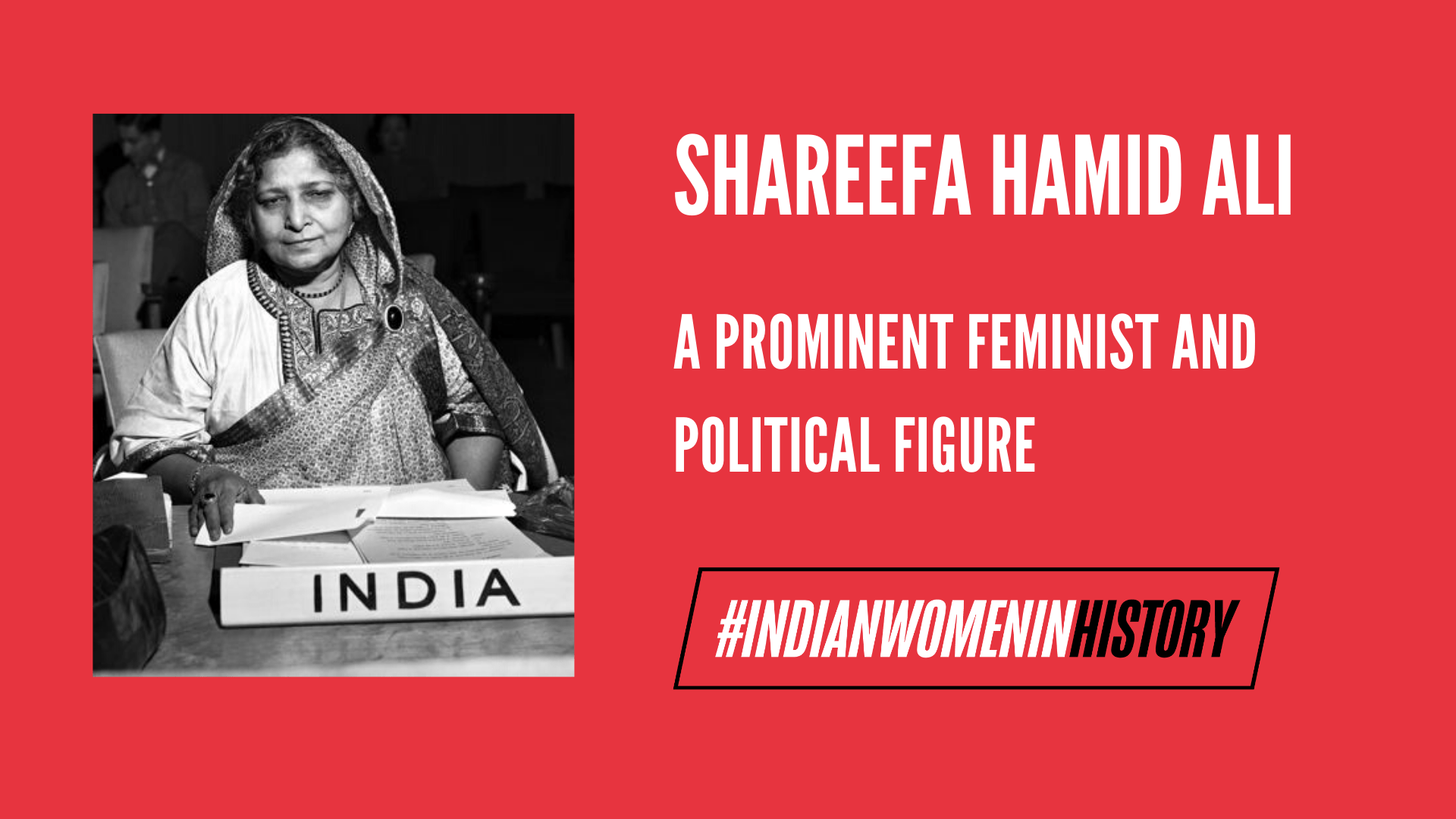 Shareefa Hamid Ali: A Prominent Feminist And Political Figure | #IndianWomenInHistory