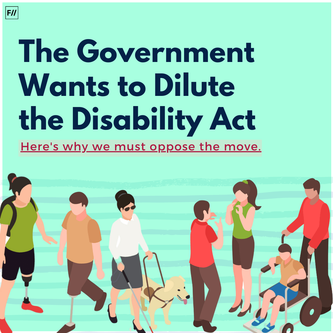 Here's Why We Must Oppose The Proposed Amendment To The Disability Act, 2016