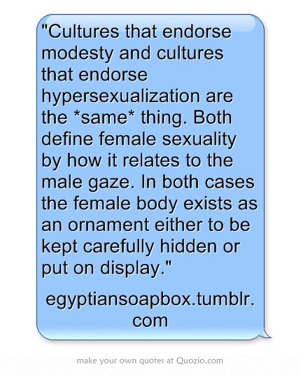 Modesty and Hypersexualization