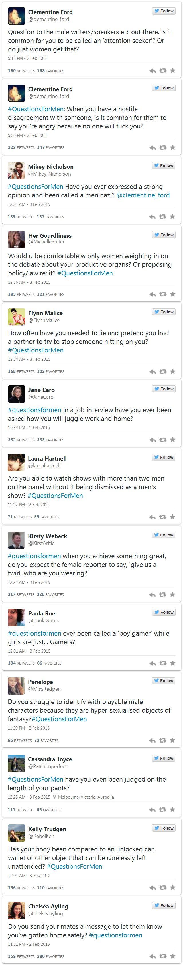 Questions for Men