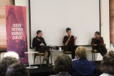 Alison Evans, Amy Middleton & Alyena Mohummadally in Queer, transgender & feminist writing (Photo by Clare O'Shannessy)