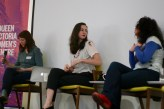 Stephanie Convery, Jessica Friedmann and Maria Tumarkin in our Politics of personal writing session