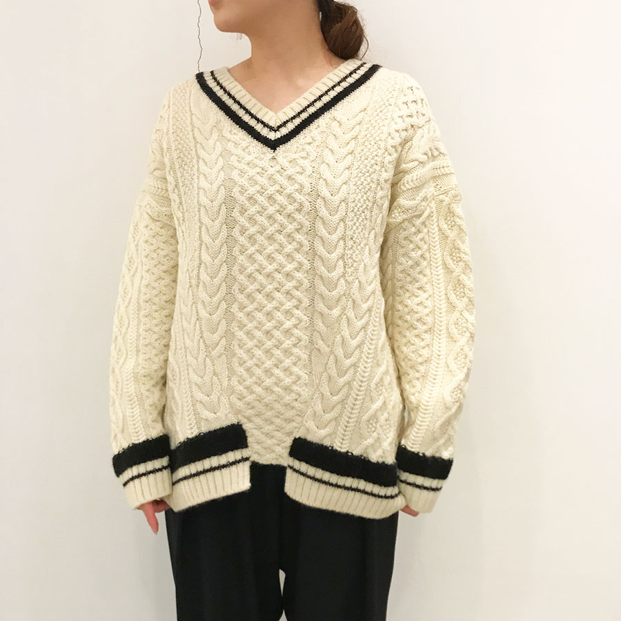 【BATONER】WOOL ALPACA CHILDEN SWEATER