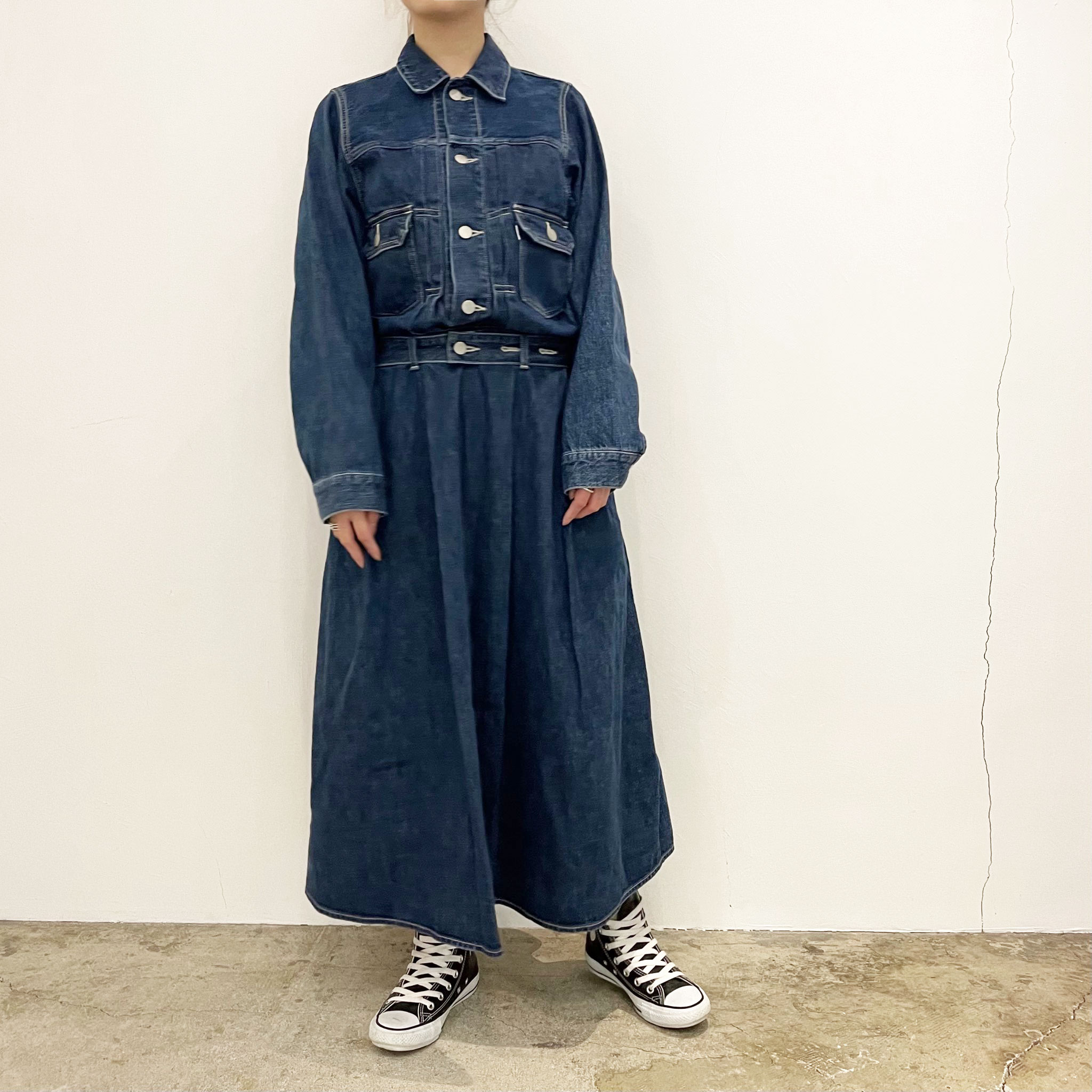 【Graphpaper】Belted Denim Dress