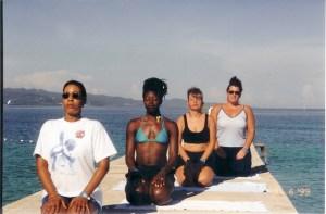 Althea Thompson doing yoga in Jamaica
